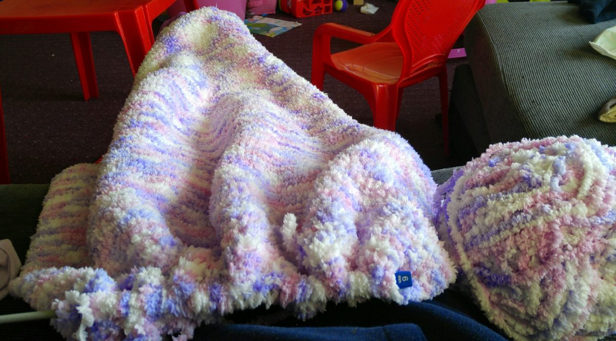 Knittting a blanket
