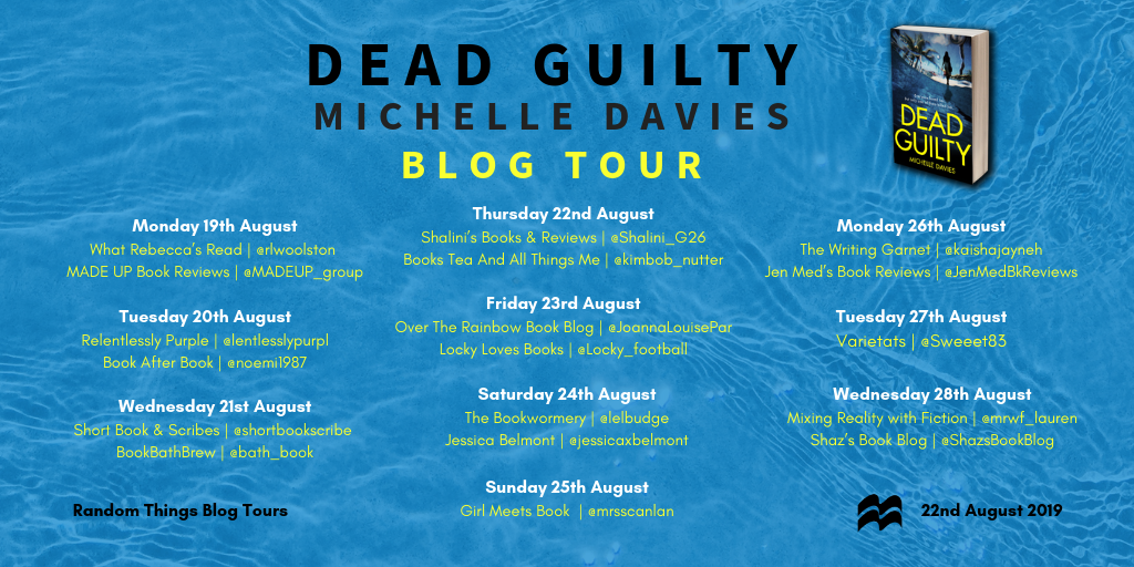 Dead Guilty Blog Tour Poster