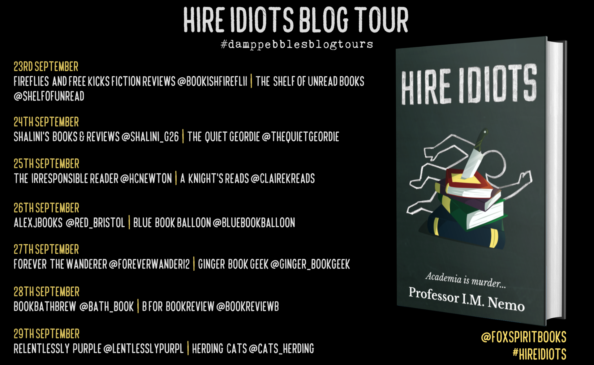 Hire Idiots Blog Tour Poster