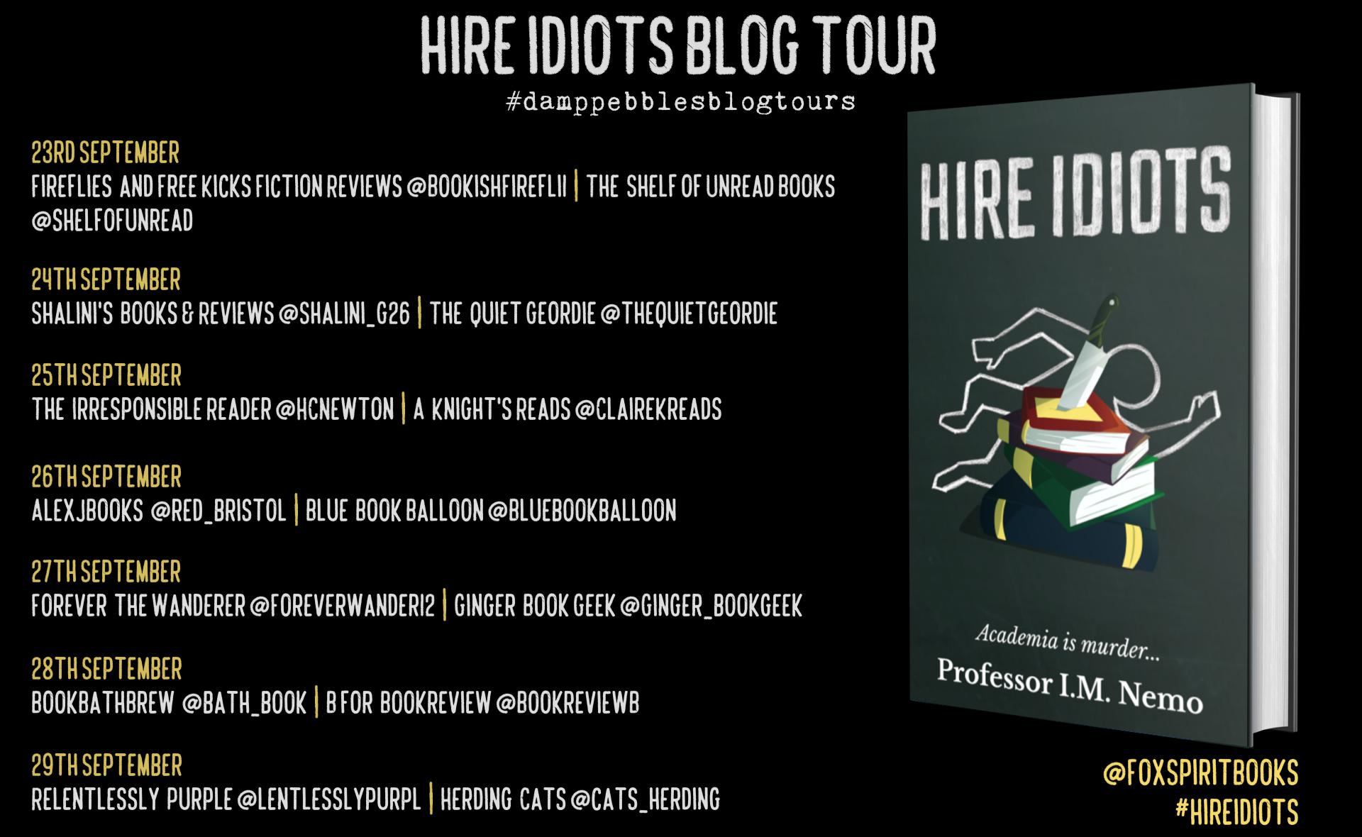 Hire Idiots Blog Tour Poster