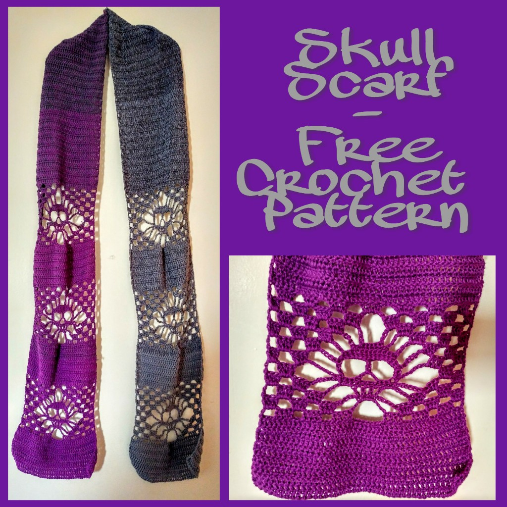 Skull Scarf - Free Crochet Pattern
