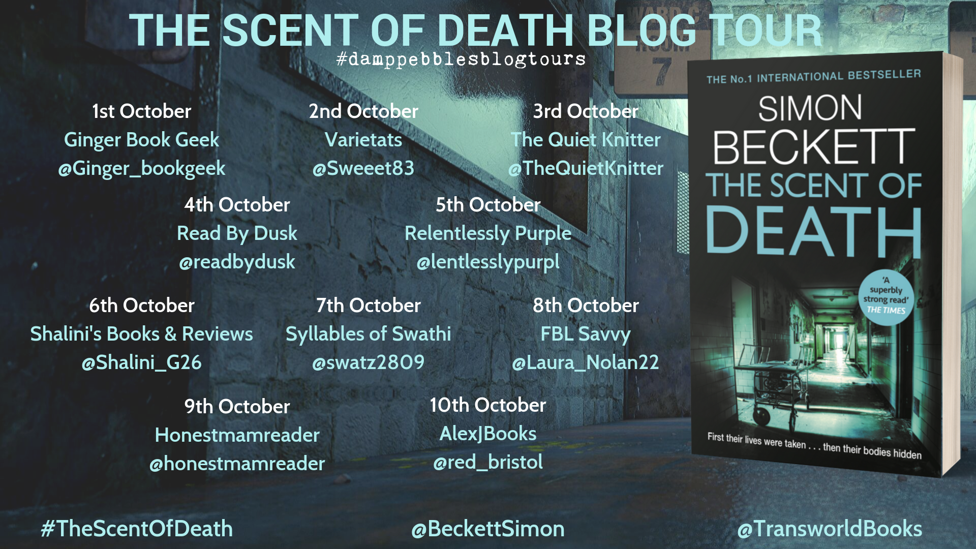 The Scent of Death Blog Tour Poster