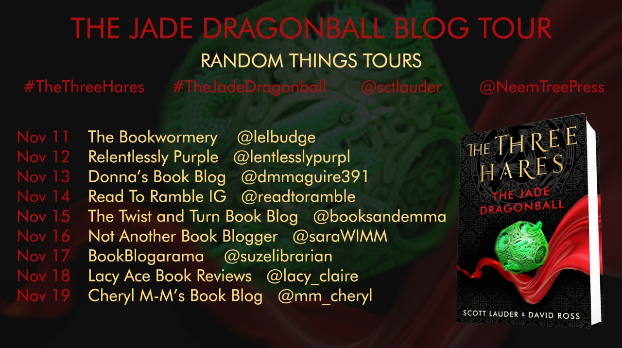 The Three Hares - The Jade Dragonball Blog Tour Poster